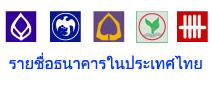 รายชื่อธนาคารในประเทศไทย
